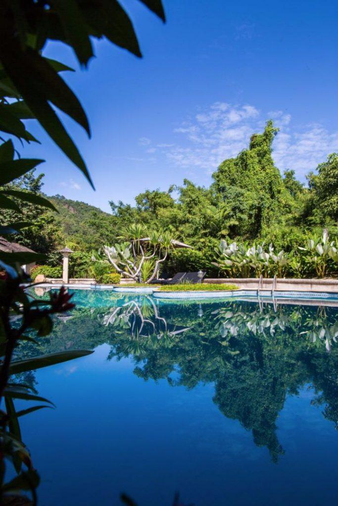 infinity crystal blue pool of luxury hotel Karma Royal Bella Vista