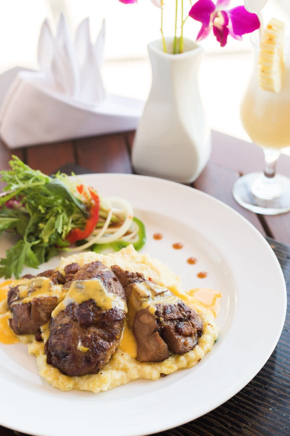 delicious of luxury hotel Karma Royal Candidasa Cuisine