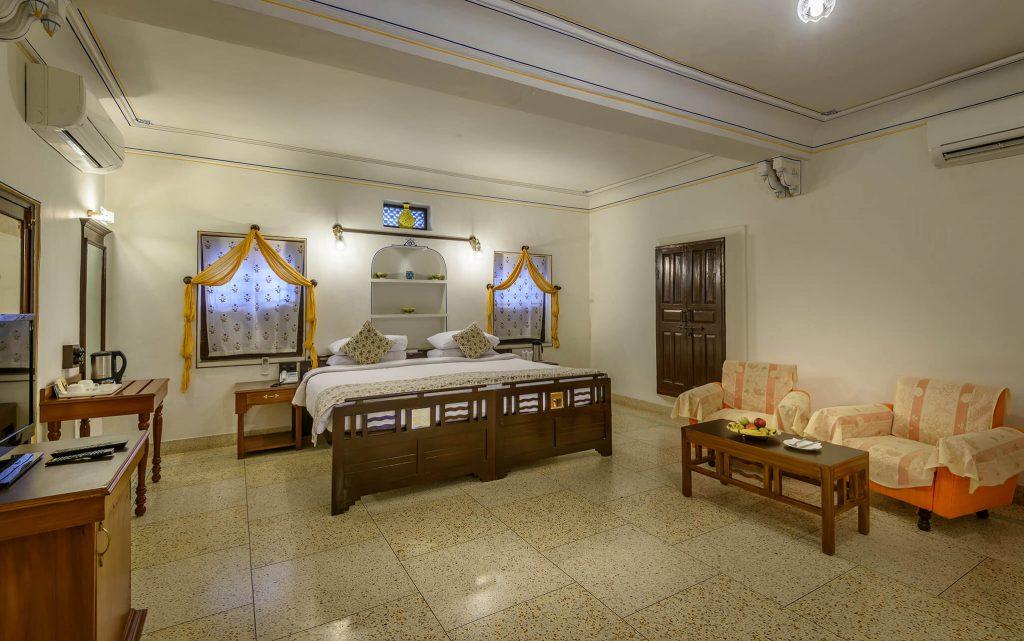 luxury hotel of Karma Haveli bedroom