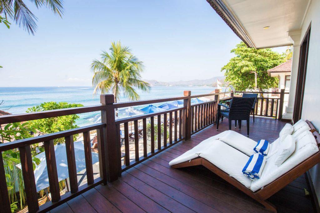 relax at luxury hotel Karma Royal Candidasa Imeprial Apartment Balcony