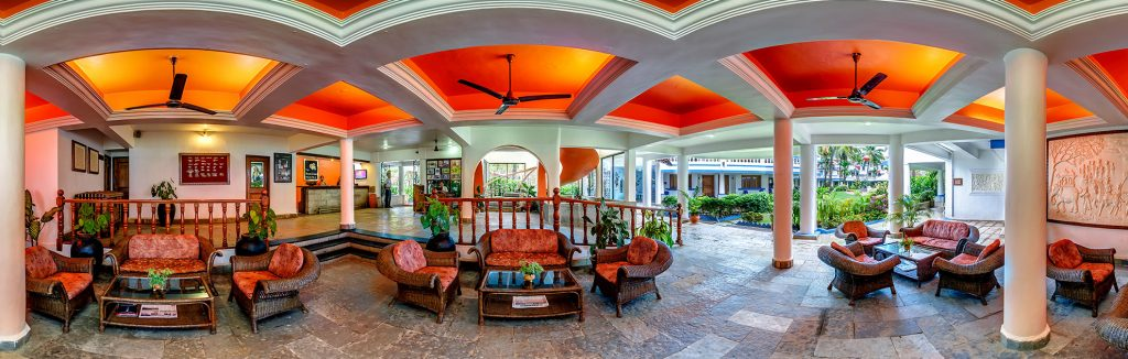 luxury hotel of karma royal benaulim guest receive