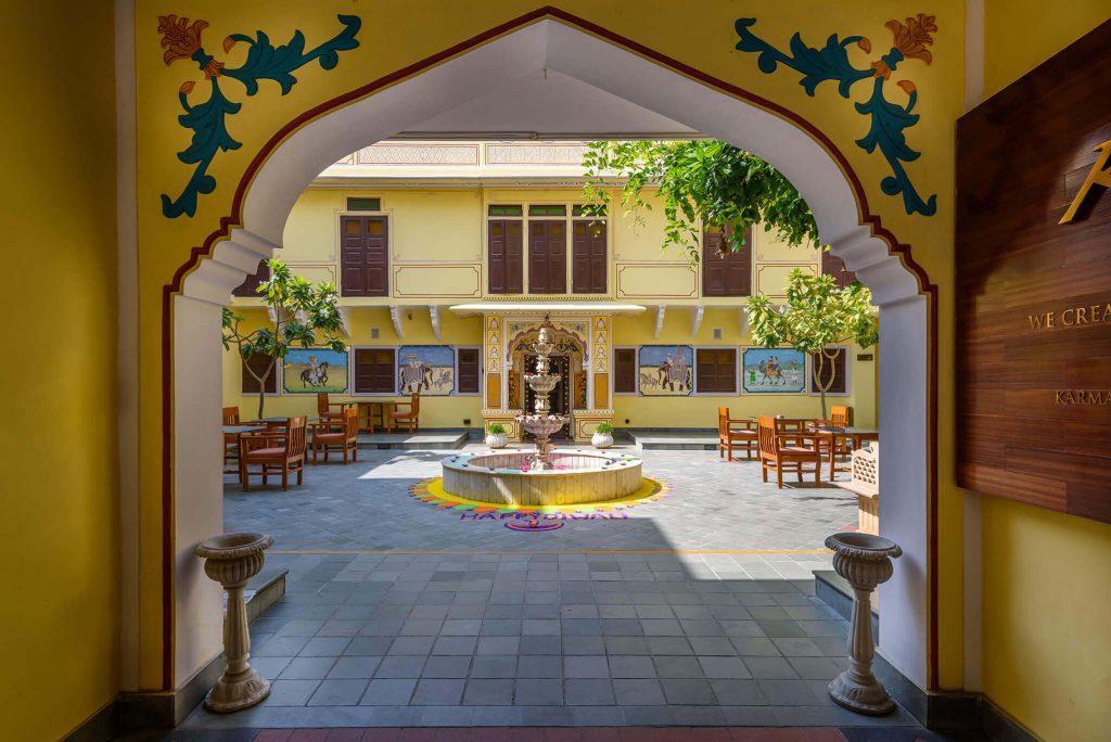 luxury hotel of Karma Haveli front gate