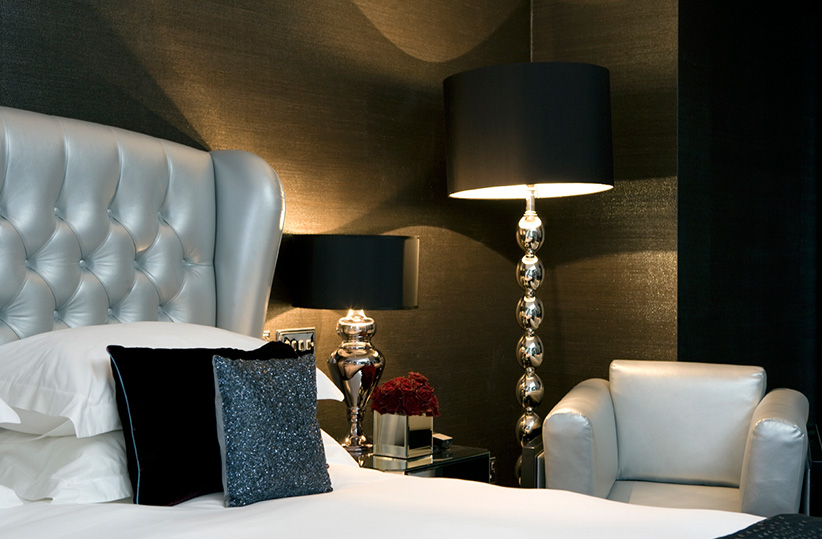 luxury hotel of karma sanctum soho black and white Rooms
