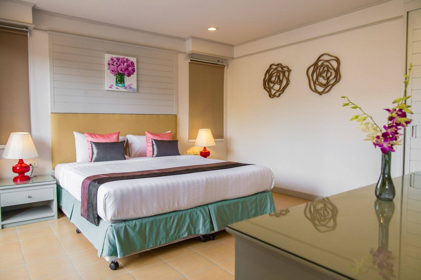 elegant bedroom of luxury hotel Karma Royal Phuket Accommodation