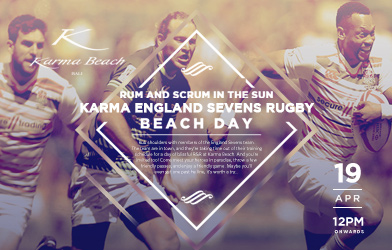 rum and scrum in the sun karma england sevens rugby beach day