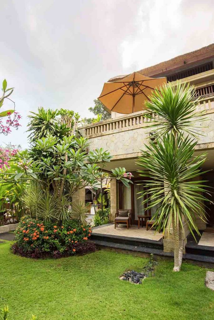 luxury hotel of Karma Royal Jimbaran garden view