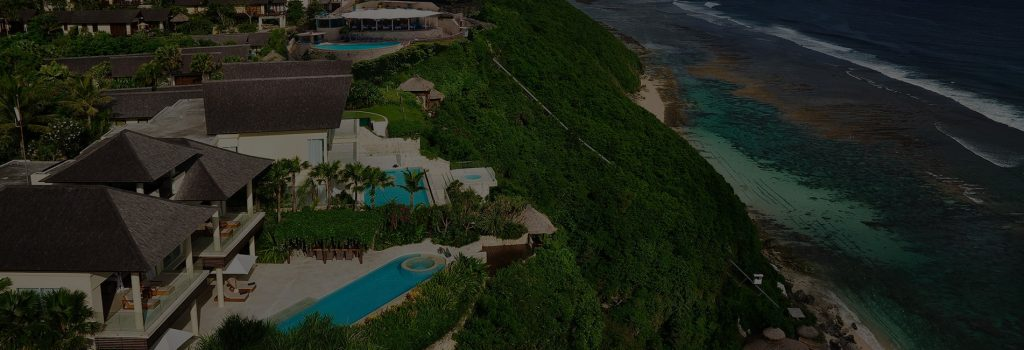 luxury hotels of karma kandara aerial view