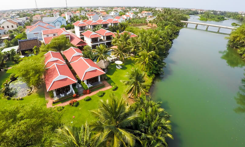 luxury resorts and beautiful of Karma Cây Tre Aerial view