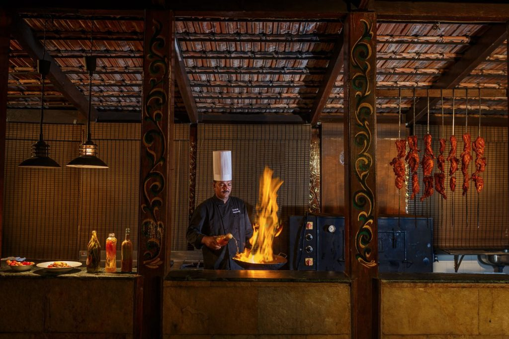 exclusive restaurant of Karma Royal Haathi Mahal Casa Lisboa Chef