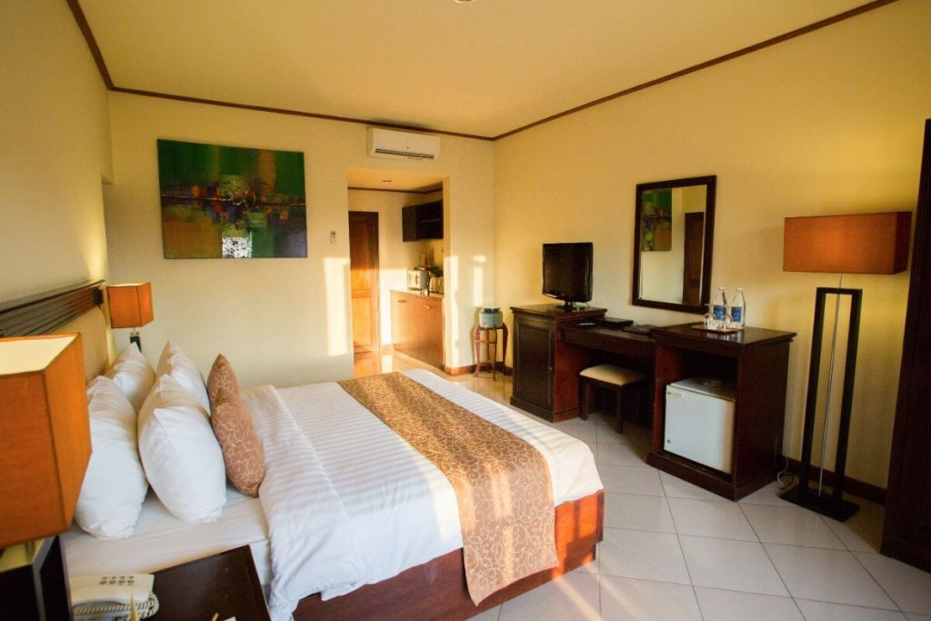 luxury hotel of Karma Royal Sanur Accommodation with cream orange interior color
