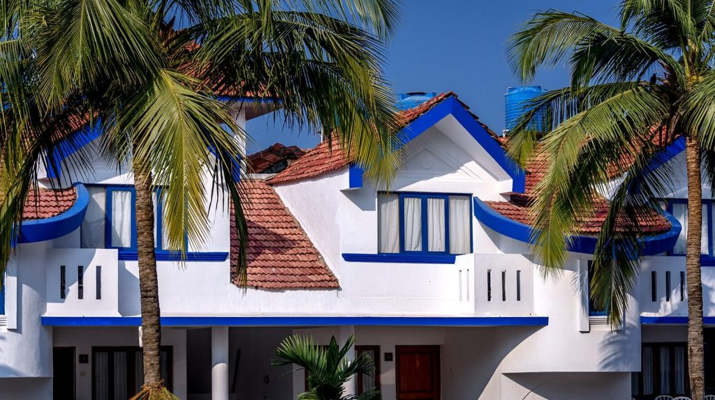 blue and white Karma Royal Benaulim Rooms and Accommodation view