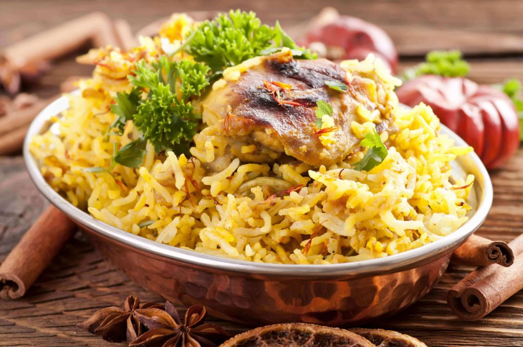 feel taste of luxury hotel karma royal residences at haathi mahal Indian Food Chicken Biryani