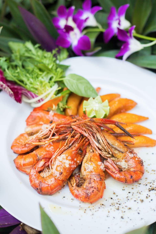 fresh fish of luxury hotel Karma Royal Candidasa Cuisine