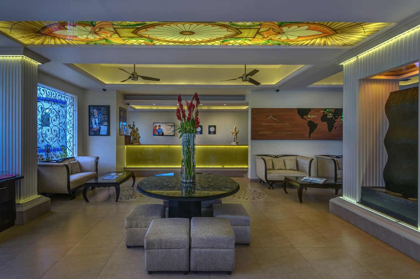 luxury hotel of Karma Royal Palms Reception Area