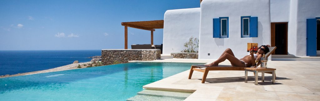 great karma pelikanos with beautiful blue pool