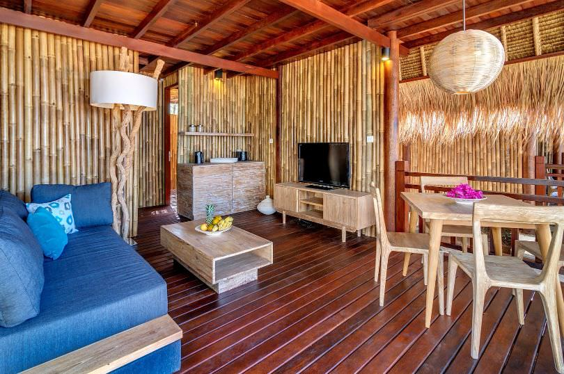 Lombok Luxury Resorts with bamboo and wood interior. karma reef