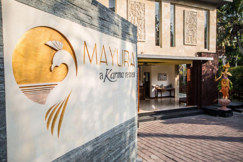 luxury hotel Karma Mayura Ubud Bali stone logo