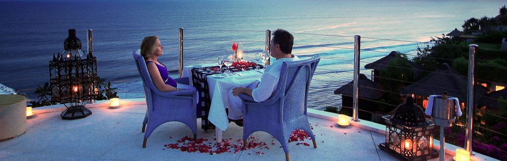 romantic candle light dinner at luxury hotel of karma kandara