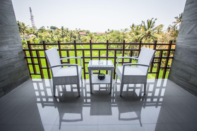 white elegant of luxury resort Karma Mayura balcony