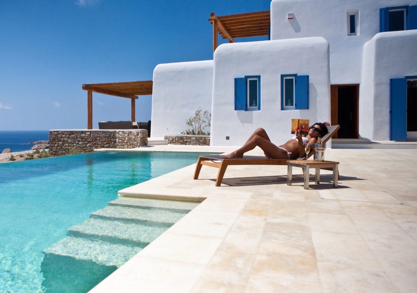 luxury hotel of Karma Pelikanos Poolside area