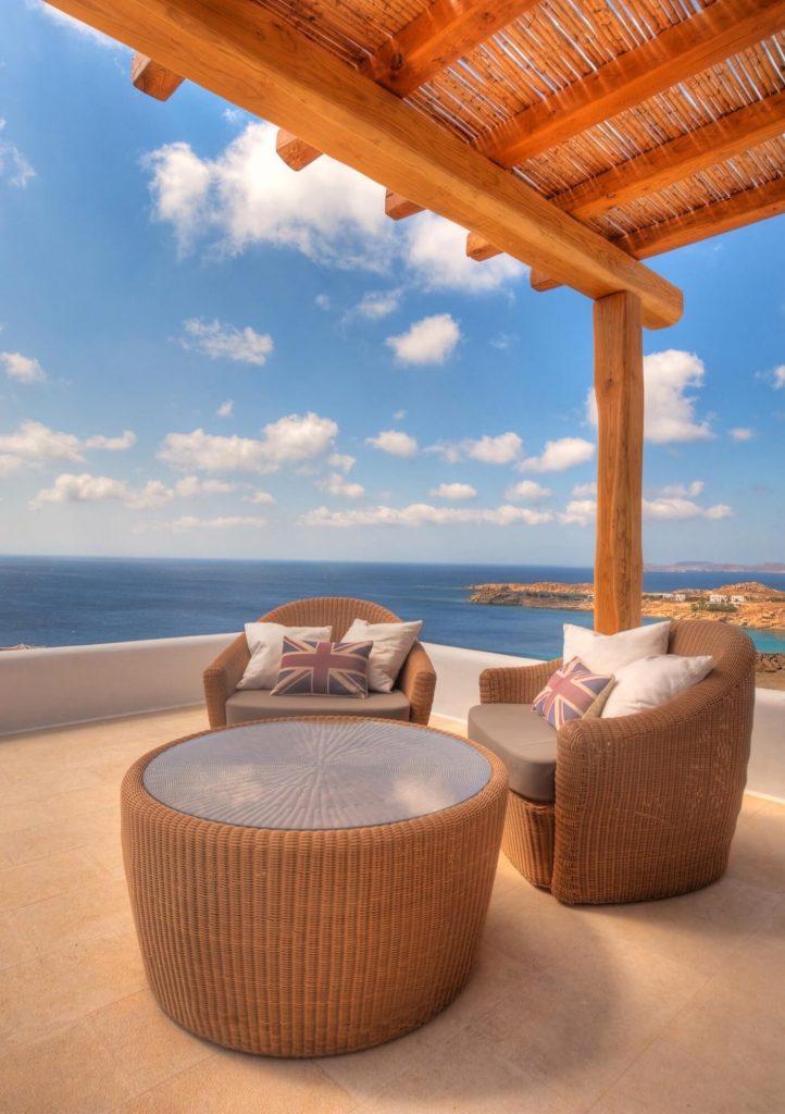 luxury hotel of Karma Pelikanos Balcony View