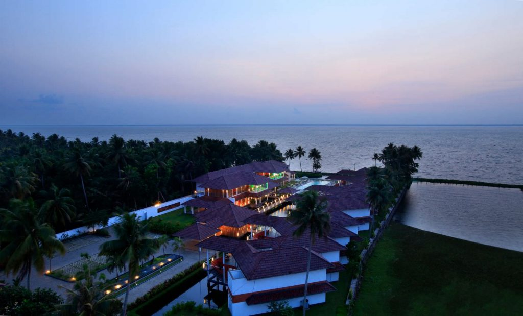 light full of luxury hotel of Karma Chakra Ariel View