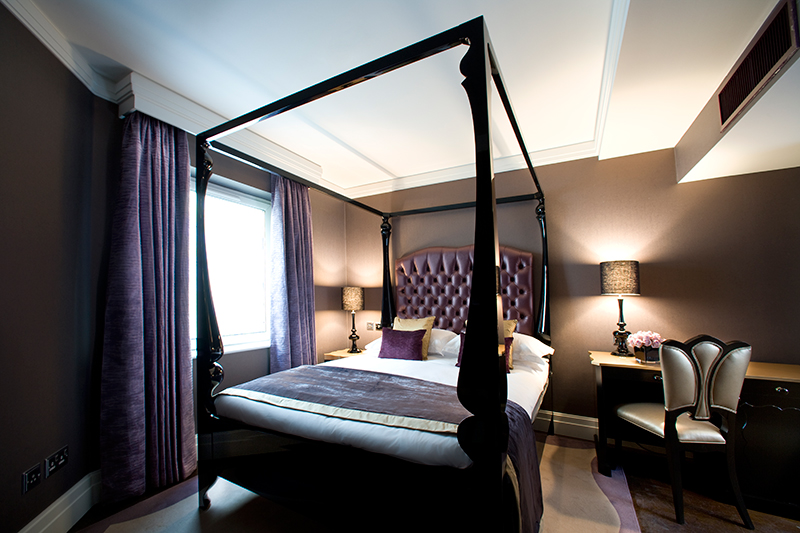 luxury hotel of karma sanctum soho Superior Purple Bedroom