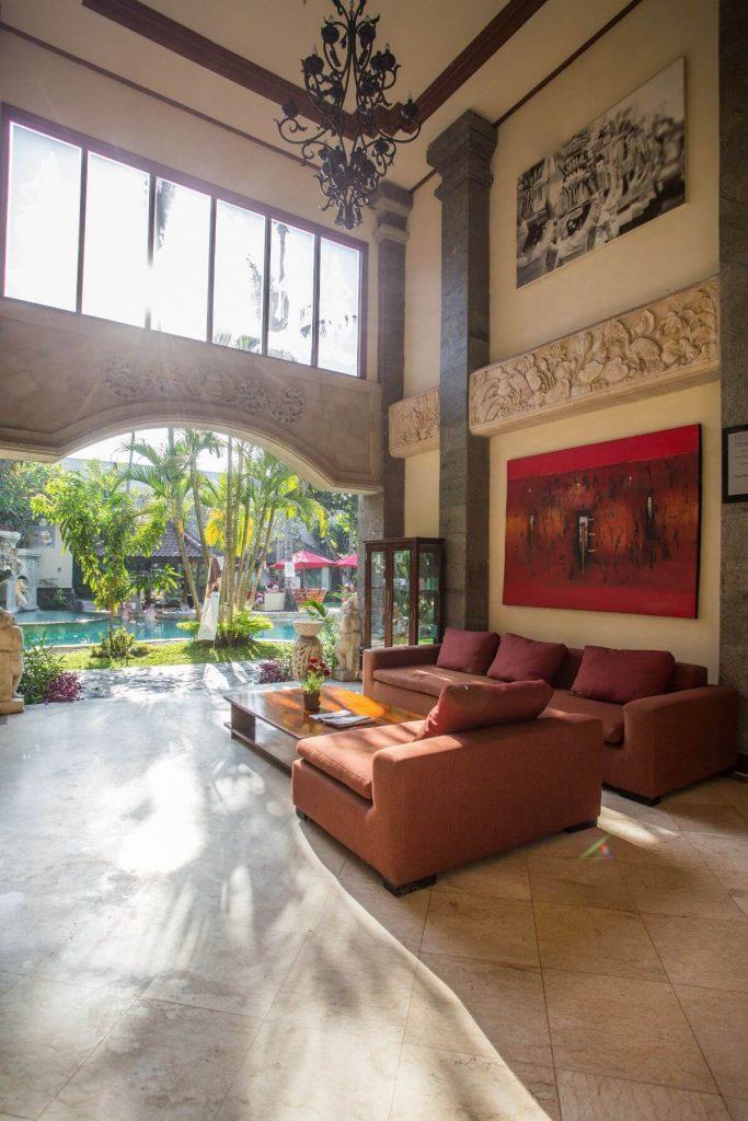 luxury hotel of Karma Royal Sanur Entrance Lobby view