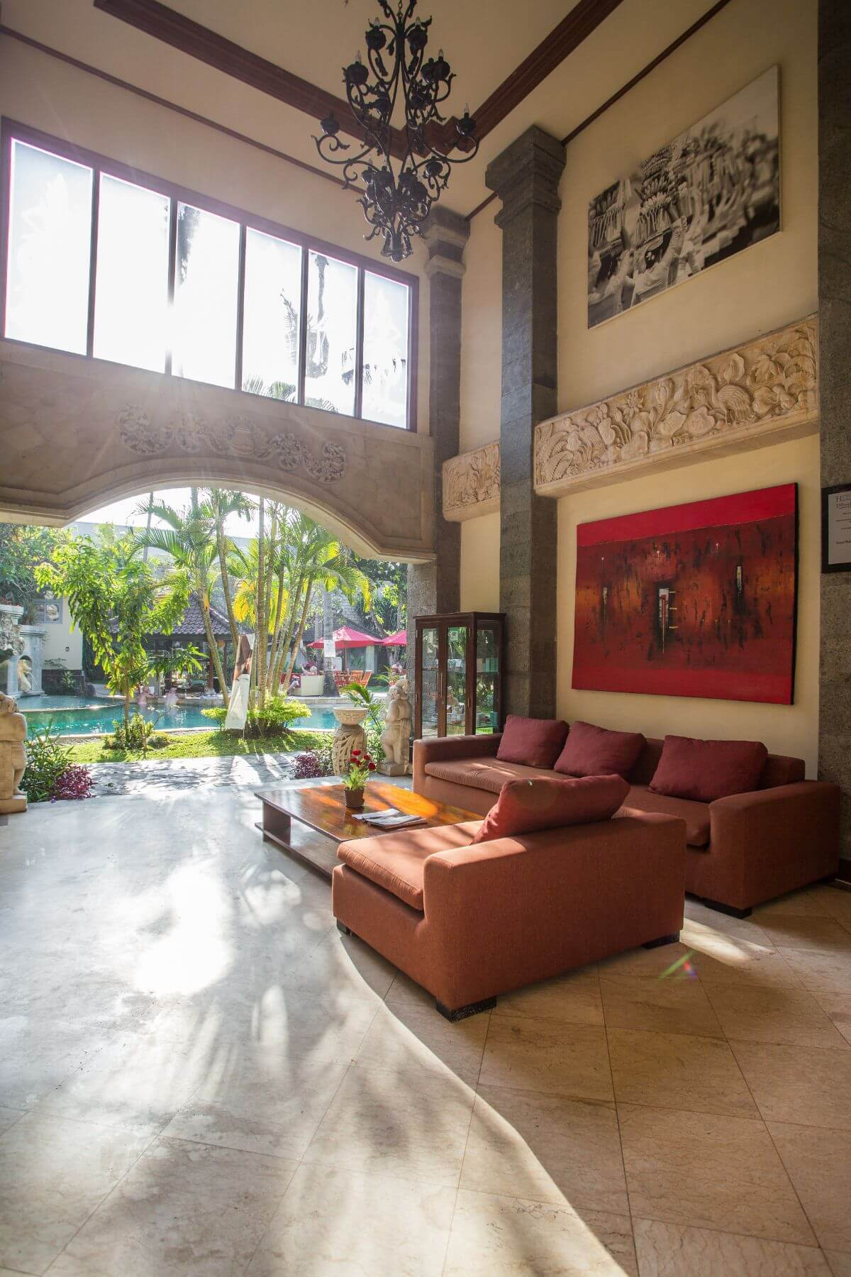 luxury hotel of Karma Royal Sanur Entrance Lobby view