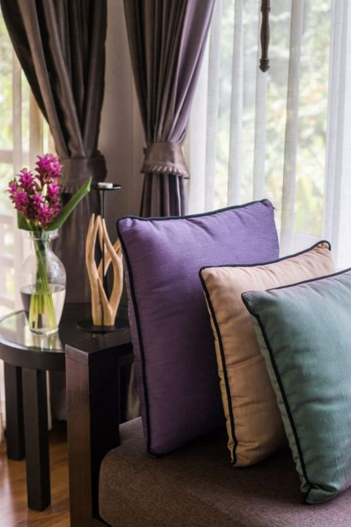 Cozy and elegant Furniture at luxury hotel karma royal chiang mai