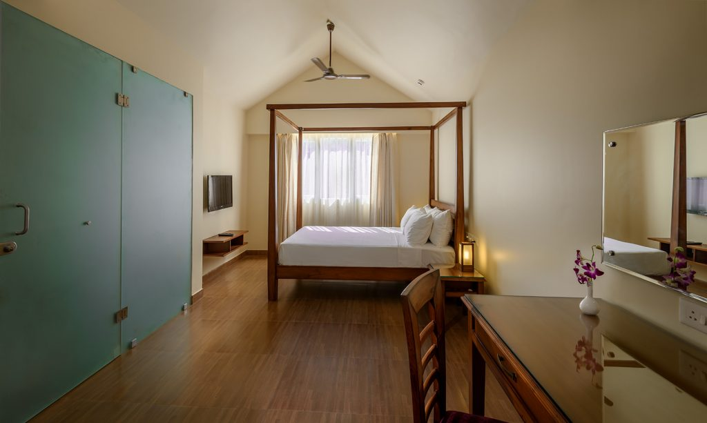 simple interior of luxury hotel Karma Royal Benaulim Rooms and Accommodation