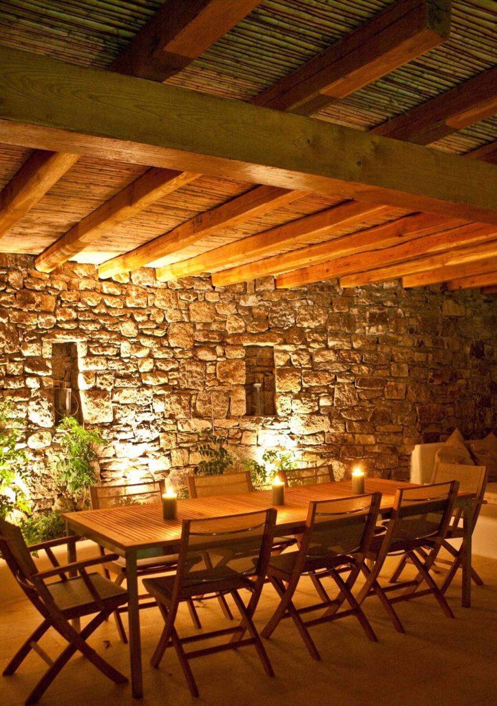 romantic Luxury hotel of Karma Pelikanos Outdoor Dining
