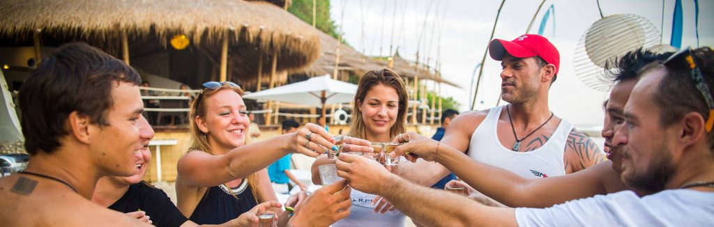 great holiday and enjoy party with champagne toast on karma beach
