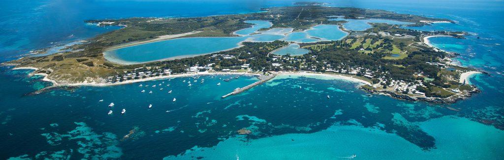 beautiful island of luxury karma rottnest, aerial view