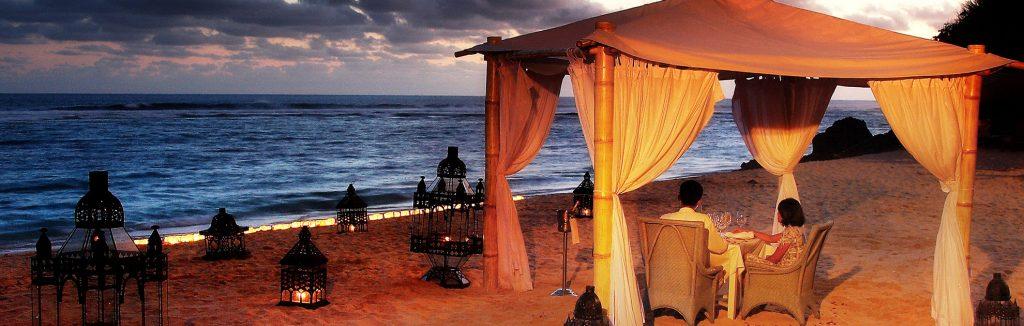 karma beach romantic beach dinner