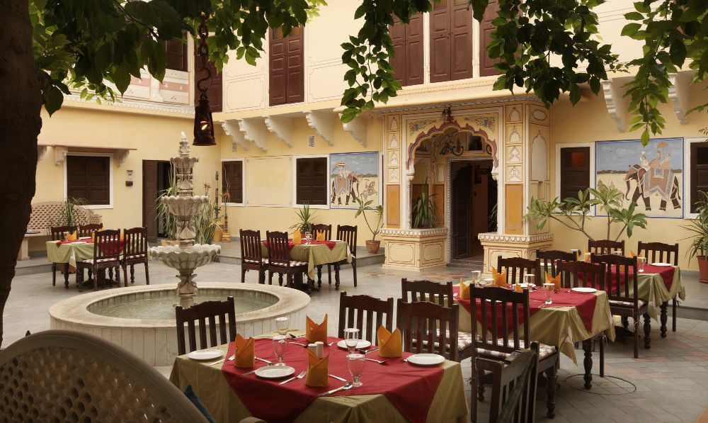 outdoor seating of luxury Kasuri Restaurant