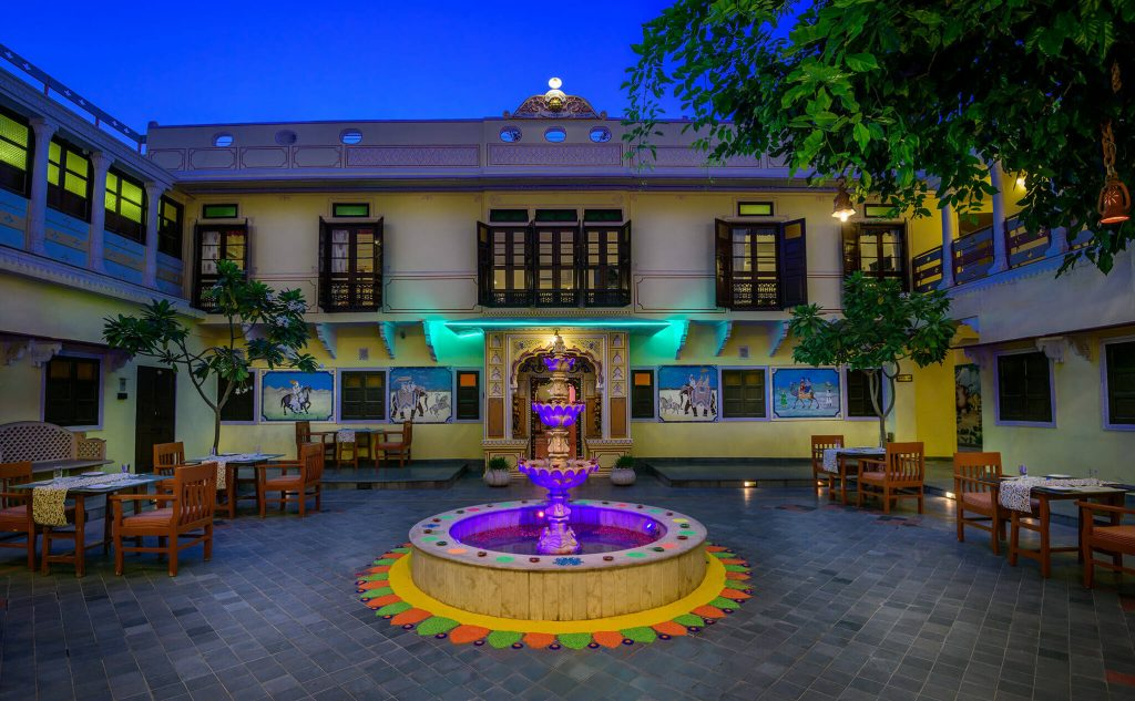 luxury hotel of Karma Haveli front view