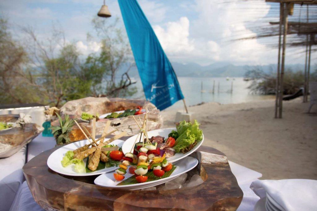 best taste of luxury hotels Gili Meno cuisine