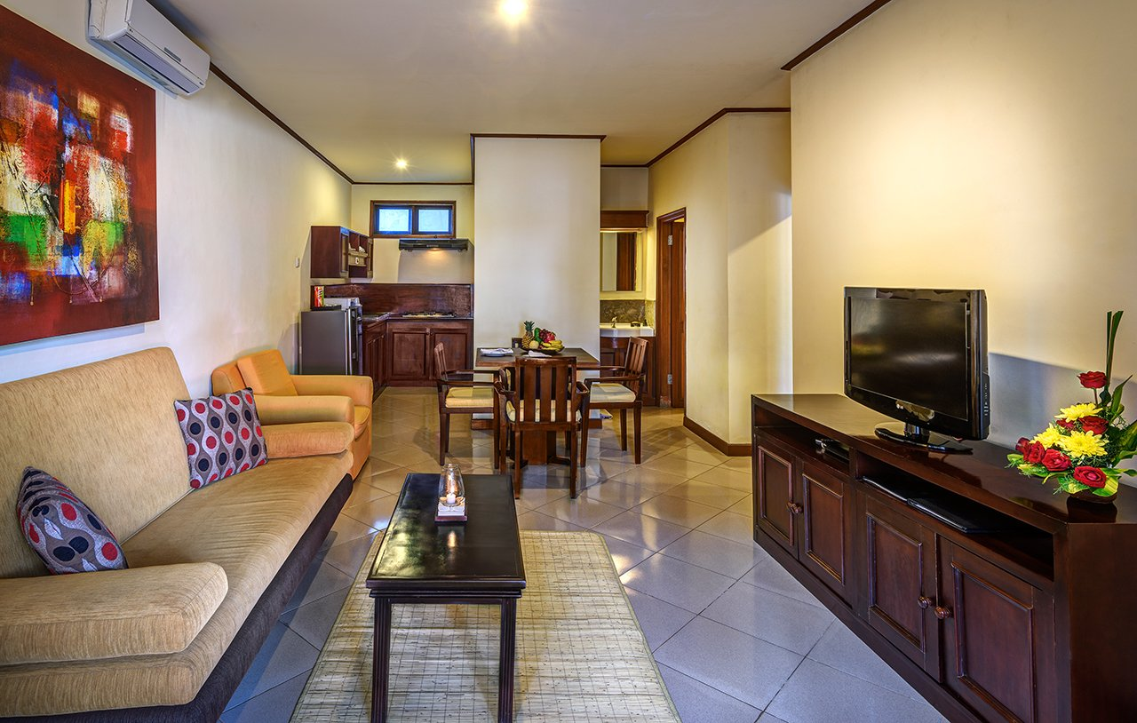 luxury hotel of karma royal sanur living room