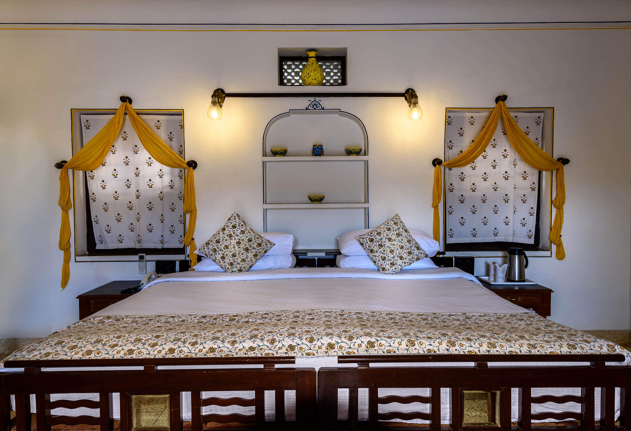 luxury hotel of Karma Haveli bedroom