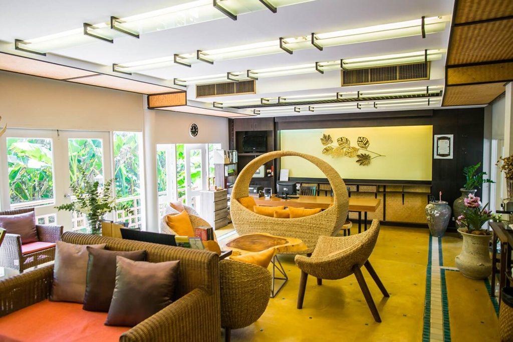 rattan furniture at luxury hotel Karma Royal Bella Vista Amenities