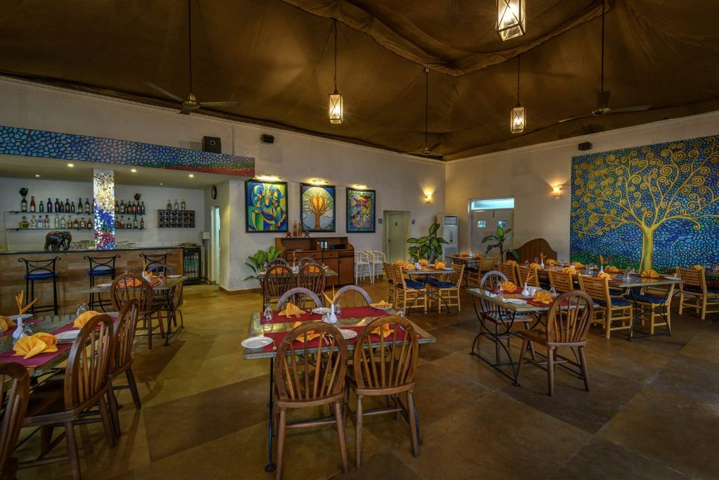 Kluxury hotel of Karma Royal Palms Benaulim Brassarie restaurant