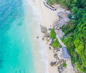 luxury resorts of karma beach club aerial