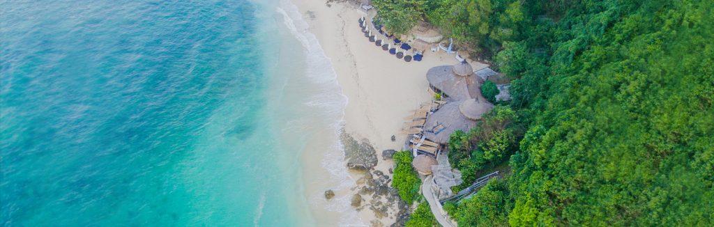 luxury resorts of karma beach club aerial