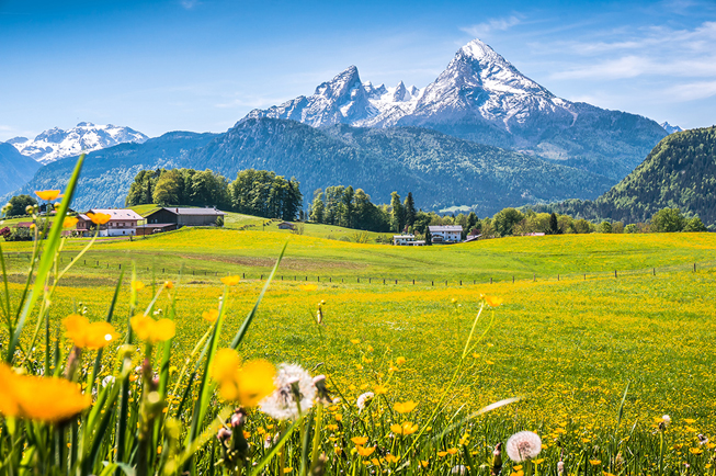 Alpen mountain scenery for Bike and Spa banner