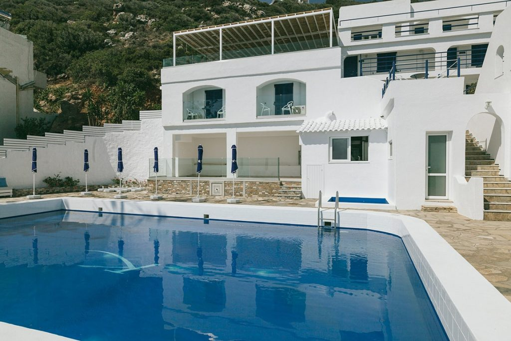 unique artistic and of luxury hotel karma minoan building