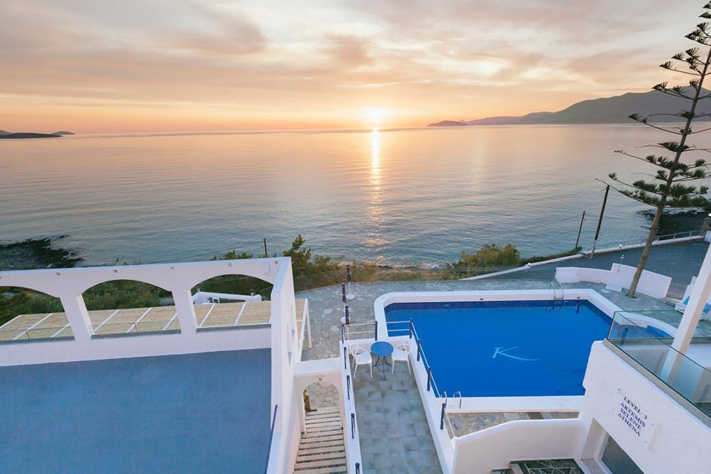 enjoy your great sunset holiday in luxury hotel of karma minoan