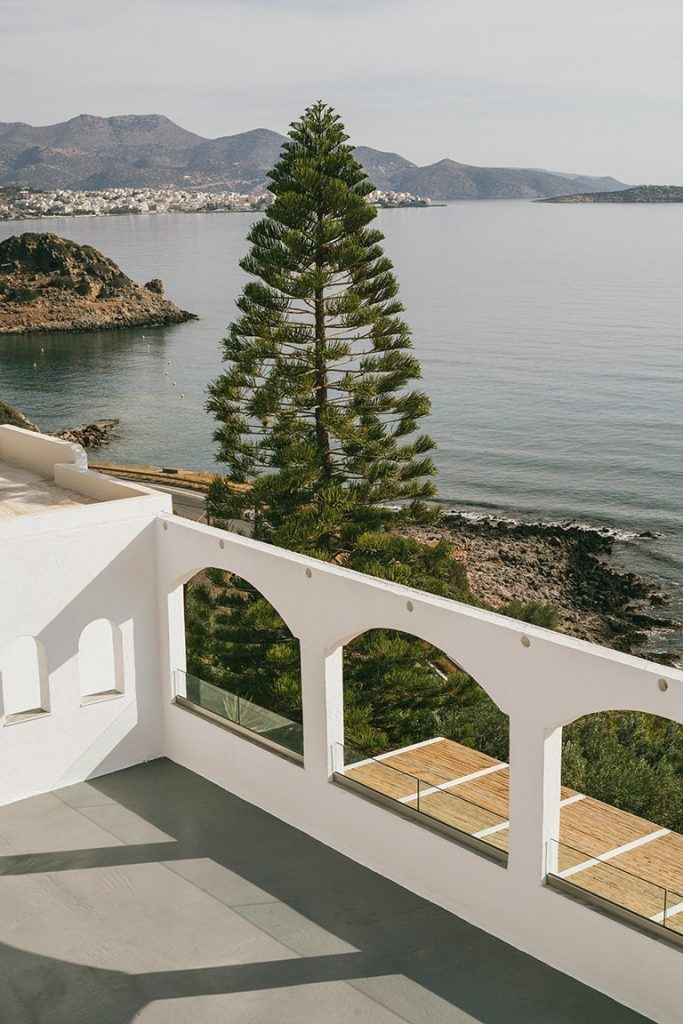 unique artistic and beautiful ocean view of luxury hotel karma minoan building