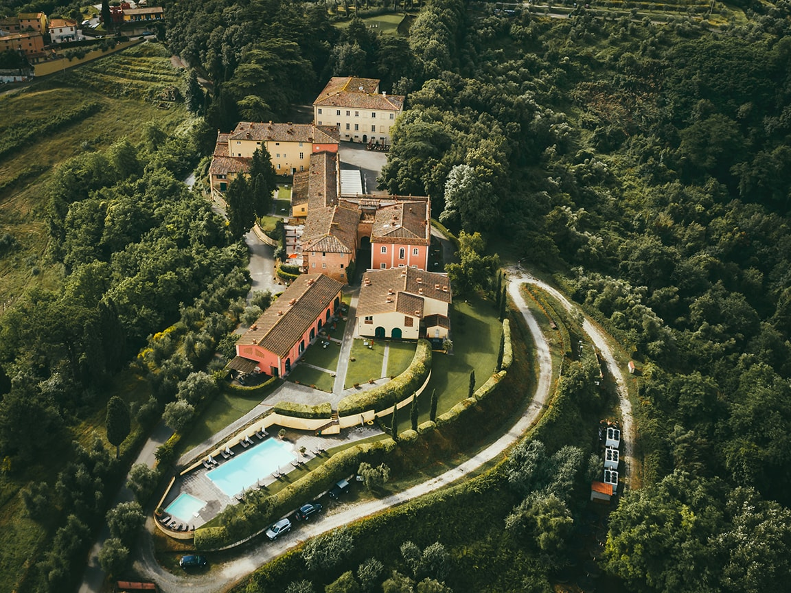 luxury resort of Karma Borgo Di Colleoli over view
