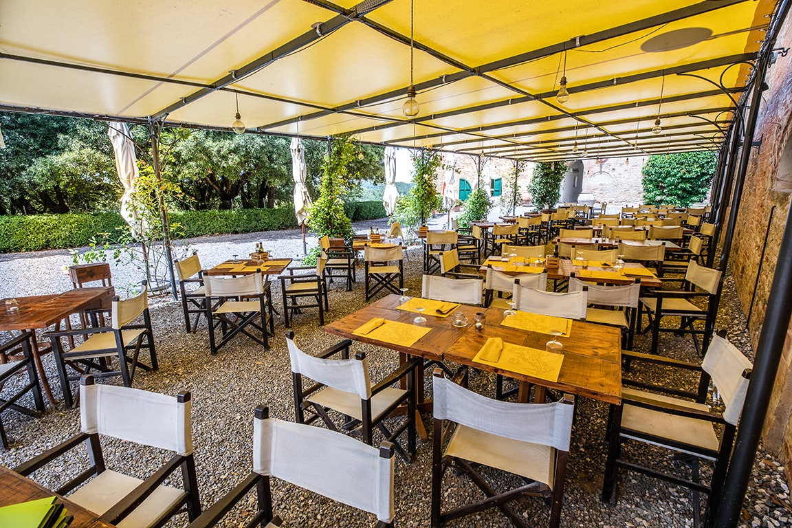 luxury resort of Karma Borgo Di Colleoli restaurant